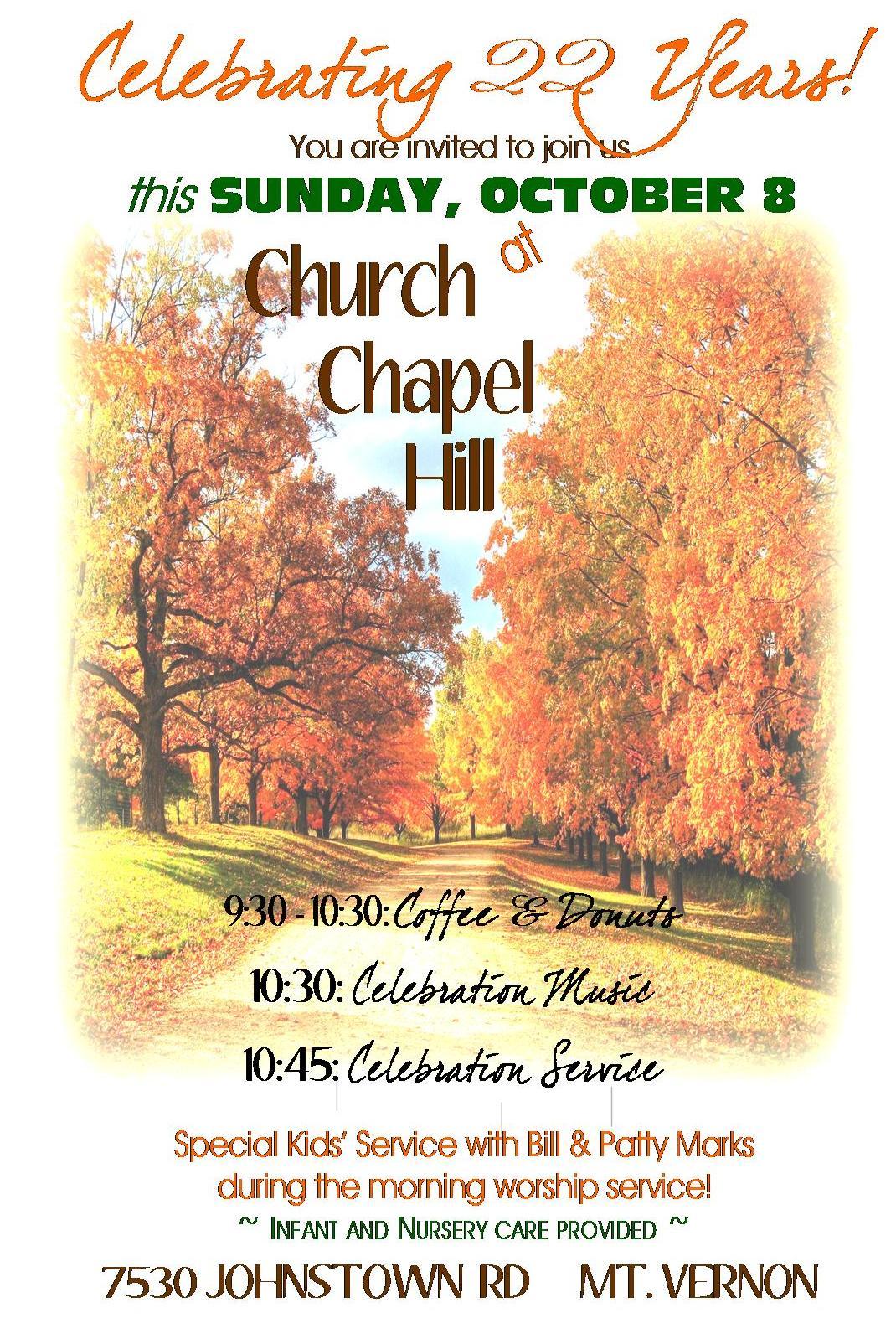 anniversary ad for church website 2017 church at chapel hill